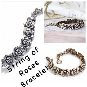 Jewelry - String of Antiqued Roses Bracelet, NWT